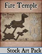 Elven Tower - Fire Temple | Stock Battlemap