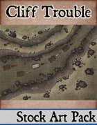 Elven Tower - Cliff Trouble | 23x18 Stock Battlemap