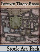 Elven Tower - Dwarven Throne Room | Stock Battlemap