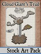 Elven Tower - Cloud Giant's Trial | 26x18 Stock Battlemap