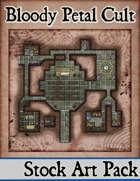 Elven Tower - Bloody Petal Cult | 24x24 Stock Battlemap