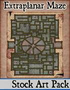 Elven Tower - Extraplanar Maze | 34x40 Stock Battlemap