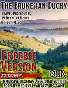 Brukesian Duchy Hexcrawl - OSR Freebie