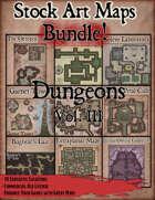 Stock Art Maps Bundle 7 - Dungeons Vol. III [BUNDLE]