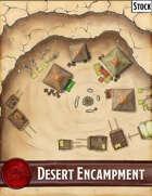 Elven Tower - Desert Encampment | 28x28 Stock Battlemap