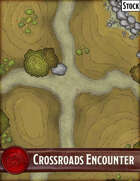 Elven Tower - Crossroads Encounter | 25x25 Stock Battlemap