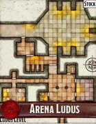 Elven Tower - Arena Ludus | 34x28 Stock Battlemap