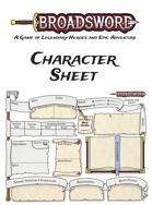 Broadsword: Character Sheet