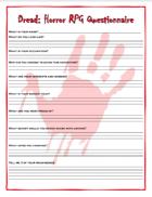 Dread RPG - Questionnaire and GM Sheet