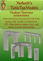 Vauban Fortress Courtine extensions