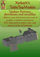 Vauban Fortress demilunes and tenailles