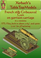 French 16 lb on garrison carriage