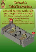 coastal battery with 16 lb gun
