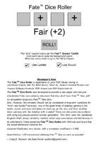 Fate Dice Roll Emulator
