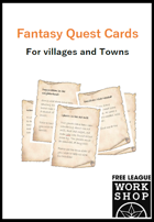 Fantasy Quest Cards - For Villages and Towns