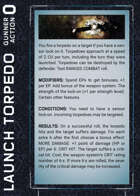 CORIOLIS Combat and Space Combat Action Cards