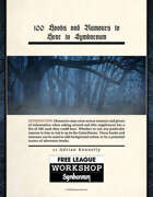100 Hooks and Rumours to Hear in Symbaroum