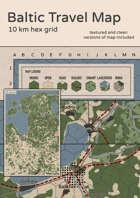 Twilight: 2000 - Baltic Travel Map