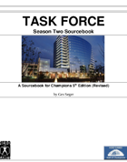 TASK FORCE: Season Two Sourcebook