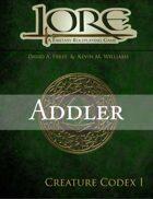 Addler: The Lore Creature Codex I