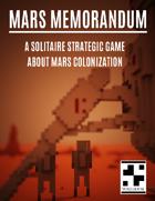 Mars Memorandum - Solitaire Strategic Game About Mars Colonization