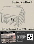 Russian Farmhouse for Wargames - Model 2