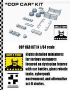 Cop Car Kit 1/64 for Car Combat Games