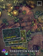 Forgotten Shrine #freeRPGday map pack - 5 variants with and without grid