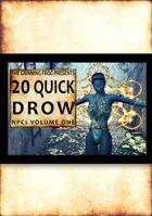 20 Quick Drow NPCs