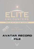 Elite Encounters RPG Avatar Record File