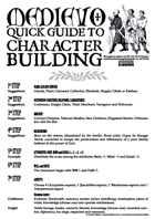 Medievo RPG - Quick Guide to Character