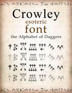 Crowley esoteric font