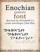 Enochian esoteric font