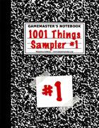 1001 Things Sampler #1