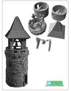 Belltower (modular) for 3d printing (STL File)