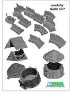 Celtic and Gallic fort SET (STL Files)