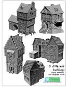 Medieval buildings SET (STL Files)