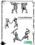 3x Barbarbarian miniatures Set -STL files-