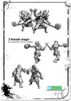 3x female mage miniatures Set -STL files-