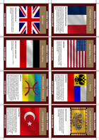 Colonialism to Revolution (Game Cards - Nation Set 1)
