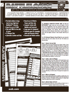 Battlelords - Character Sheets (6th Edition)