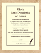 Ulric's Little Descriptive of Roxen – Somewhat Optimized for Dungeon World