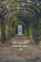 Liz Hugs Garden Haiku Poster