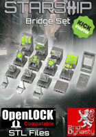 Starship 3D Printable OpenLOCK Deck Plans - Bridge Tiles