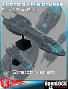 Tactical Miniatures Scout Ship Beta Stretch Variant