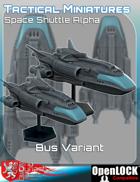 Tactical Miniatures Space Shuttle Alpha Bus Variant