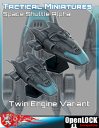 Tactical Miniatures Space Shuttle Alpha Twin Engine Variant