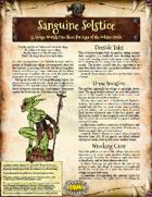 Saga of the Goblin Horde: Sanguine Solstice (Savage Worlds Deluxe)
