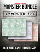 Combat Cards: 357 Pre-Filled Monster Cards (5E)