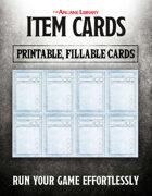 Combat Cards: Fillable Item Cards (5E)